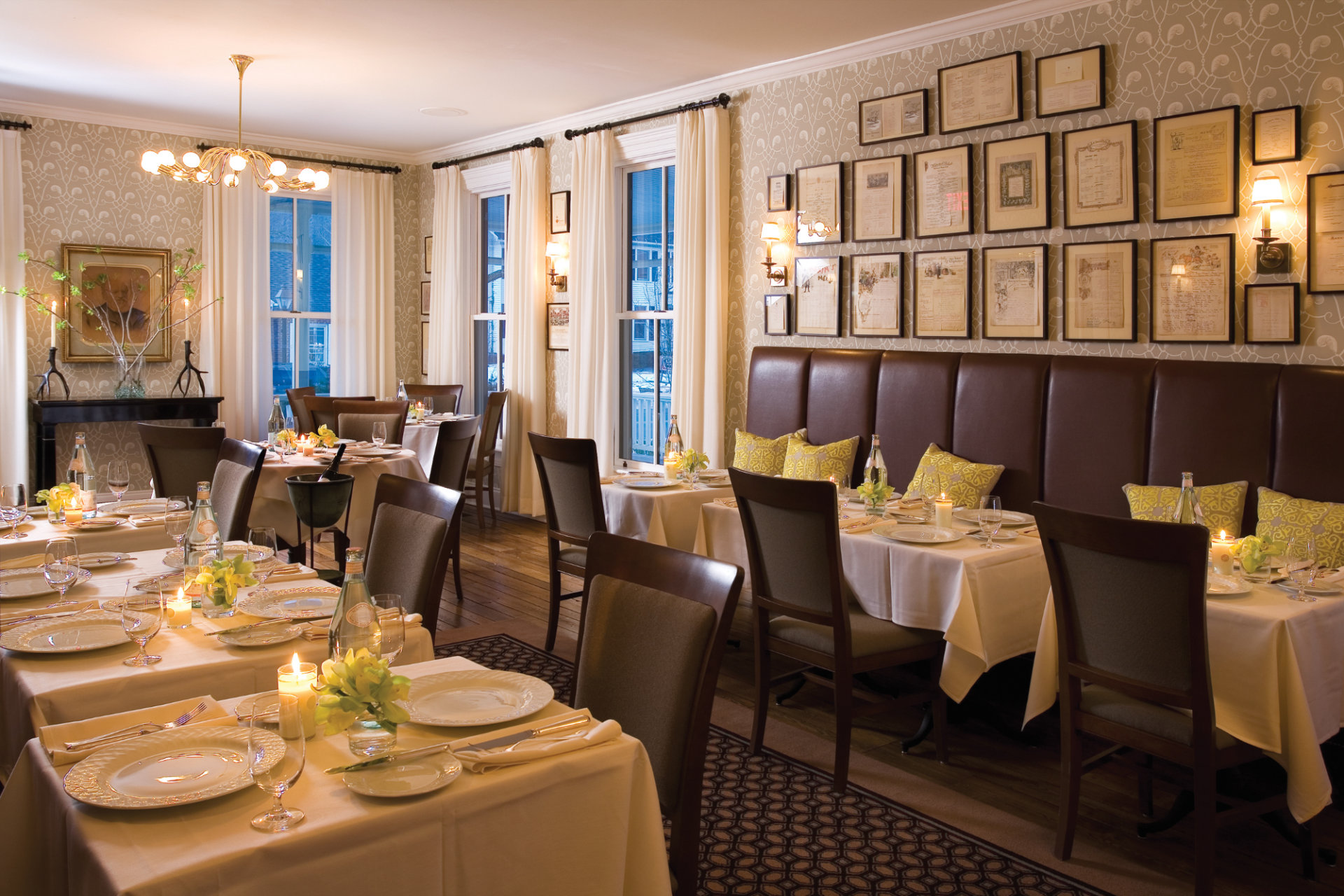 The Delmonico Room at Hotel Fauchère