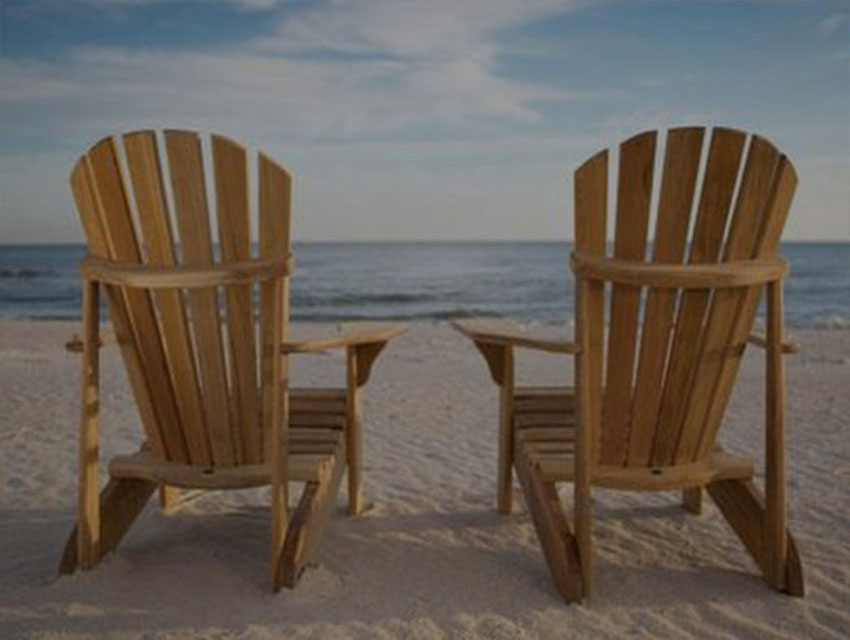 2 chairs on the beach